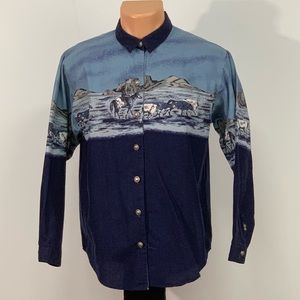 Vintage Panhandle Slim Western Style Button Up